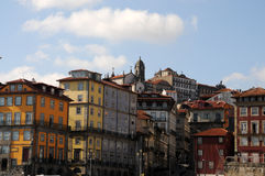 Porto, Ansicht vom Boot Lizenzfreie Stockbilder