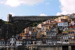 Porto, Ansicht vom Boot Stockbilder
