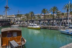 Porto antico in Genua, Italië royalty-vrije stock foto
