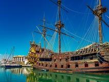 Porto antico i Genua, Italien Royaltyfria Foton