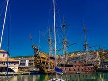 Porto antico i Genua, Italien Royaltyfri Fotografi