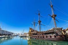 Porto antico i Genua, Italien Arkivfoton