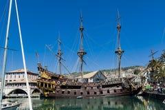 Porto antico i Genua, Italien Fotografering för Bildbyråer