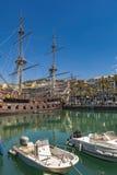 Porto antico i Genua, Italien Arkivfoto