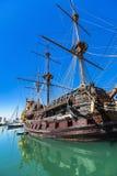 Porto antico i Genua, Italien Arkivbild