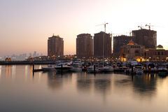 Porto Arabia marina, Doha Royalty Free Stock Photo