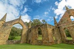 Porto Arthur Tasmania della chiesa del condannato Fotografia Stock Libera da Diritti
