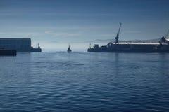 Porto azul Fotos de Stock