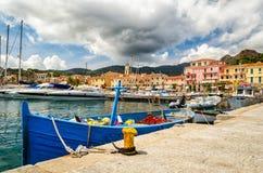 Porto Azzurro, d'Elba de Isola Fotos de archivo
