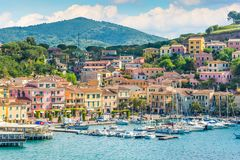 Porto Azzurro en Elba Island, Toscana imagen de archivo libre de regalías