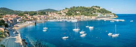 Porto Azzurro en Elba Island, Toscana fotos de archivo