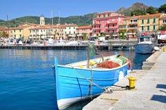 Porto Azzurro no console da Ilha de Elba Foto de Stock Royalty Free