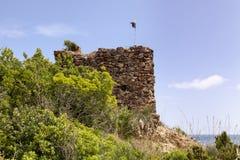 Porto Azzurro with Terranera, watchtower ftom Elba, Tuscany, Italy Stock Image