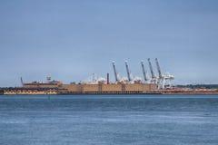 Porto, Bayonne, NJ Foto de Stock Royalty Free