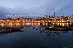 Porto bij nacht Stock Foto's