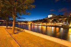 Porto bij Nacht Stock Afbeeldingen