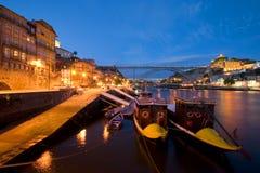 Porto bij Nacht Royalty-vrije Stock Foto's