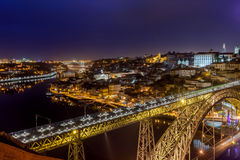 Porto bis zum Nacht Lizenzfreie Stockfotografie