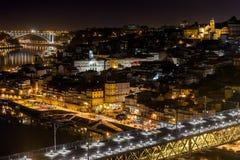 Porto bis zum Nacht Stockfotos