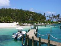 Porto blu dell'isola della laguna Immagini Stock Libere da Diritti