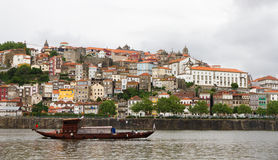 Porto with boats on river, Portugal Stock Images
