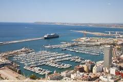 Porto bonito em Alicante imagens de stock