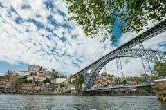 Porto-Brücke Dom Luis, Portugal Lizenzfreies Stockfoto