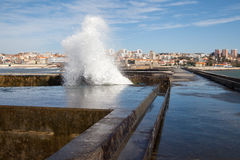 Porto breakwater, Portugal coast. Royalty Free Stock Image