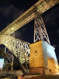 Porto Bridge. During night time Stock Photography