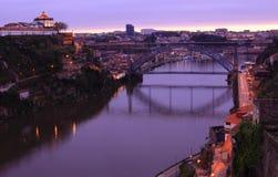 Porto bridge. View of D. Luis Bridge in Porto, Portugal Royalty Free Stock Images