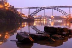 Porto bridge. View of D. Luis Bridge in Porto, Portugal Stock Photos