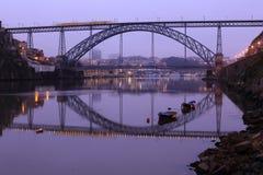 Porto bridge. View of D. Luis Bridge in Porto, Portugal Stock Images