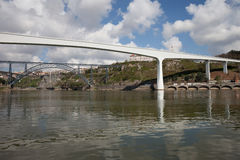 Porto Bridges Over Douro River in Portugal Stock Images