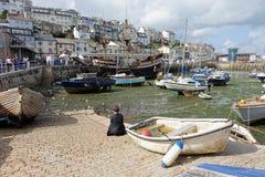Porto Brixham Devon England Reino Unido do porto Imagem de Stock