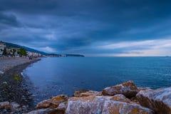 Porto calmo antes da tempestade Foto de Stock Royalty Free