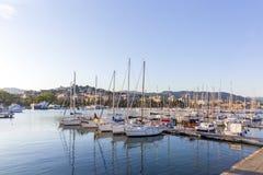Porto calmo do La Spezia, Itália imagens de stock