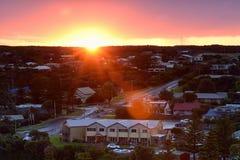 Porto Campbell Sunrise lungo la grande strada dell'oceano fotografia stock