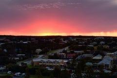 Porto Campbell Sunrise lungo la grande strada dell'oceano fotografia stock libera da diritti
