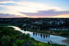 Porto Campbell Sunrise lungo la grande strada dell'oceano immagine stock