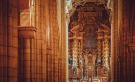 Porto Cathedral Interior Royalty Free Stock Photos