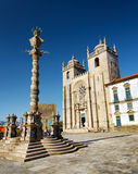 The Porto Cathedral is a popular tourist attraction of Portugal Stock Image