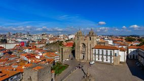 The Porto Cathedral is a popular tourist attraction of Portugal. royalty free stock photos