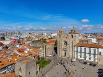 The Porto Cathedral is a popular tourist attraction of Portugal. stock photos