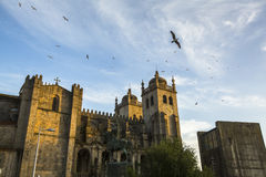 The Porto Cathedral. Romanesque and Gothic architecture. Porto, Portugal. Stock Photography