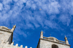 Porto Cathedral Se do Porto against the blue sky. Stock Photography