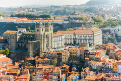 Porto Cathedral (Se do Porto). Porto old town  is registered as Stock Images