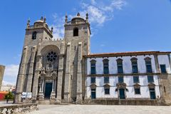 Porto Cathedral Se do Porto, Portugal royalty free stock photo