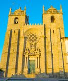 Porto Cathedral at sunset. Portugal stock images