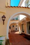 Porto Cervo architecture. Typical street in Porto Cervo Sardinia - Italy Royalty Free Stock Images