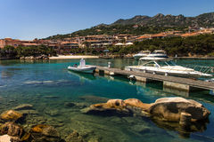 Porto Cervo - little Molo. Little molo of Porto Cervo. Ships, holidays, shopping, tourist site. Sea landscape Stock Image
